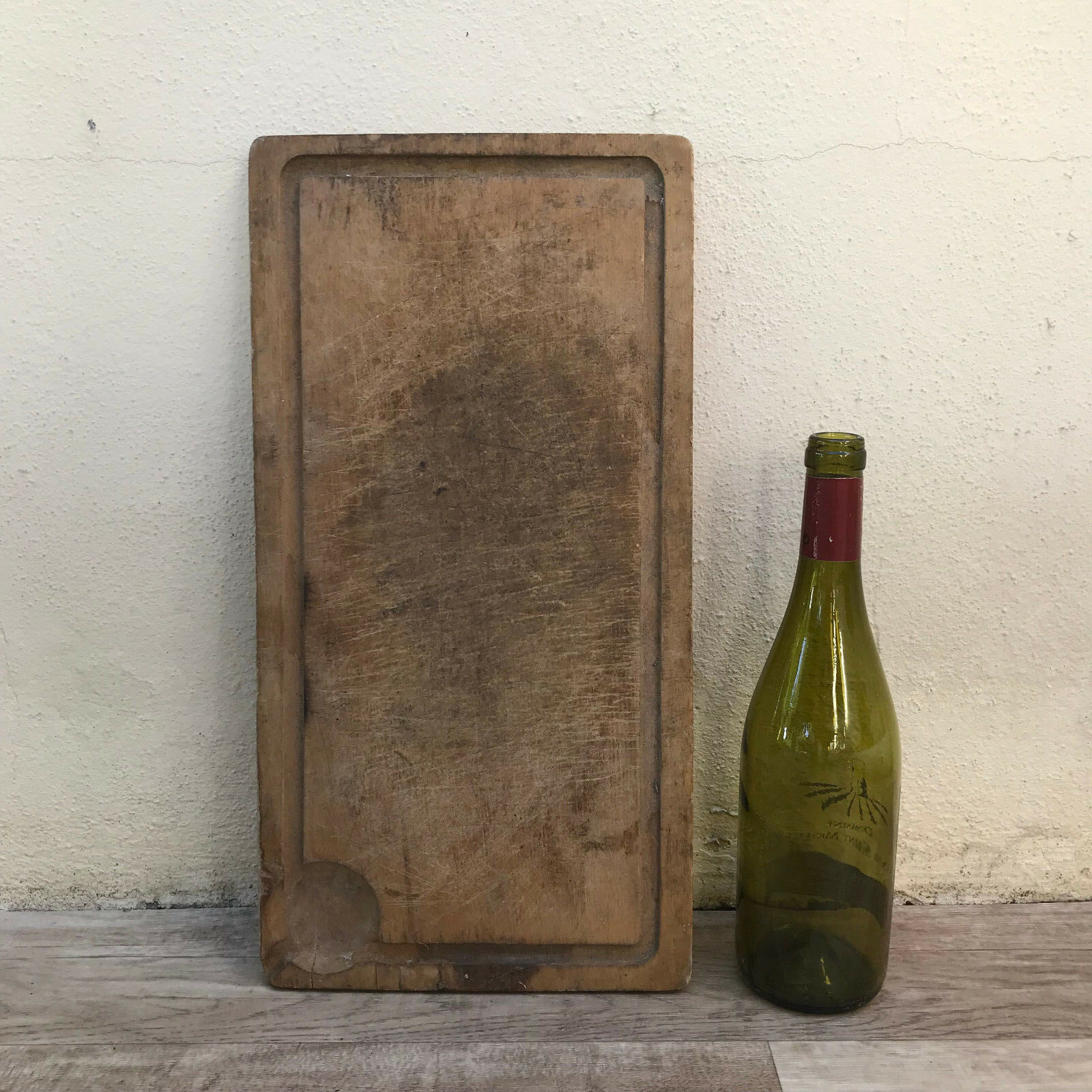 ANTIQUE VINTAGE FRENCH BREAD OR CHOPPING CUTTING BOARD WOOD 2807182