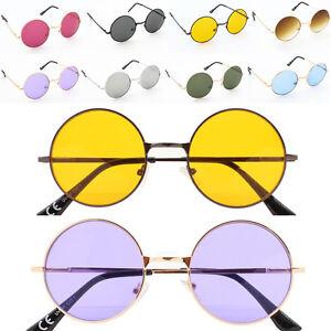 83ad089239b5 Round Lens Tea Shade Lennon Style Ladies Mens Sunglasses Bahoo ...