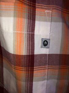 Marmot-Short-Sleeve-Plaid-Cordero-Button-Up-Shirt-Men-s-Sz-XLarge-Outdoor-Hiking