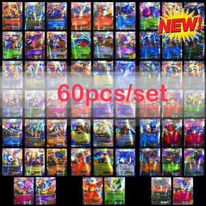 60X-Pokemon-Karten-mit-GX-Stern-DEUTSCH-Top-Zustand-2019-Ideal-als-Geschenk
