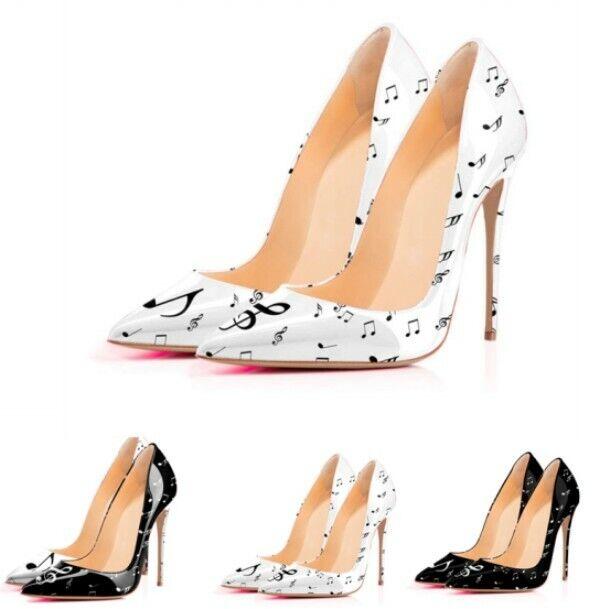 Färgförskjutning spetsspetsig sko High Stiletto Heel Occident Occident Occident Sexy  Fri leverans och retur