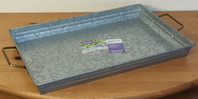 Better Homes & Gardens Galvanized Serving Tray (12 x 21) Silver C3769
