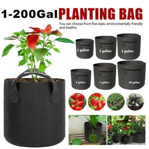 1 25-200 gallon Grow Bags plant tree pots fabric growing large garden Planting