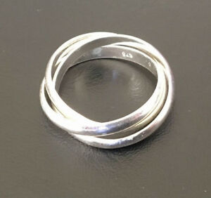 Sterling-Silver-3-Interlocking-Stack-Russian-Wedding-Ring-Band-5-6-7-8-9-10-11-5