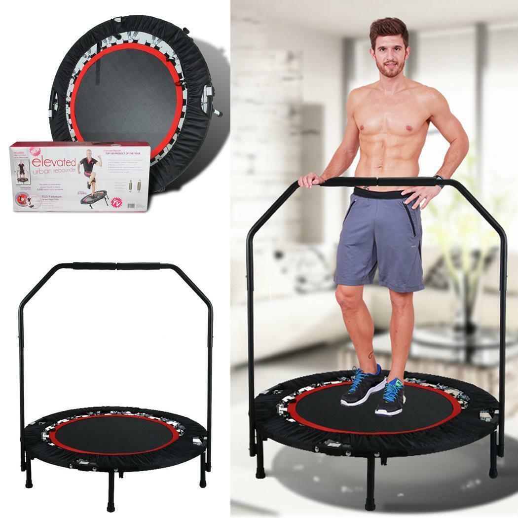 Fitness 40  Mini Trampolin Gartentrampolin mit Handlauf Heimtraining klappbar