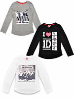 NEW GIRLS ONE DIRECTION  FASHION  LONG SLEEVES T-SHIRT TOPS  SIZE 7- 14