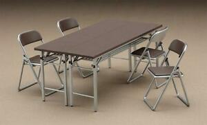 Hasegawa-62002-1-12-Table-et-Chaises-Neuf