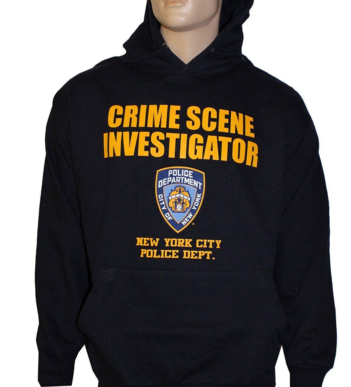 NYPD Crime Scene Investigation Hoodie CSI Sweatshirt Navy Blau