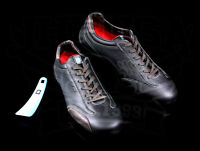 Nardi Driving Shoes Made In Italy Low Cut Black Leather Size Eu 44 Us 10.5-11