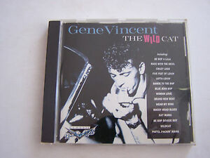 CD-DE-GENE-VINCENT-THE-WILD-CAT-20-TITRES-1994-BON-ETAT