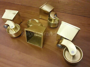BRASS-CASTOR-CUP-amp-SOCKET-FOR-FEET-LEGS-SETTEES-SOFAS-CHAIRS-amp-FOOTSTOOLS