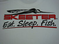 Skeeter White Tee-shirt With Logo On Front And Skeeter Bug Logo On Back