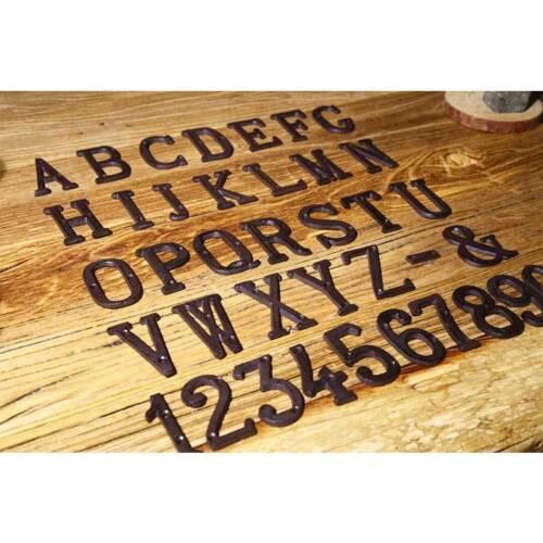 House Door Alphabet Letters /& Numbers Cast Wrought Iron Black Antique