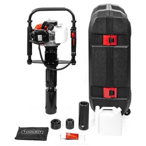 Gas-Powered-T-Post-Driver-32-7cc-1-2HP-2-stroke-Gasoline-Engine-Push-Pile-Driver
