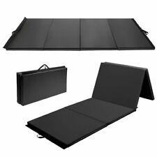 "Goplus 4'x10'x2"" Gymnastics Mat Folding Panel Gym Fitness Exercise Mat Black"