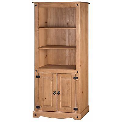 Corona Bookcase 2 Door Large Display Storage Pine by Mercers Furniture®