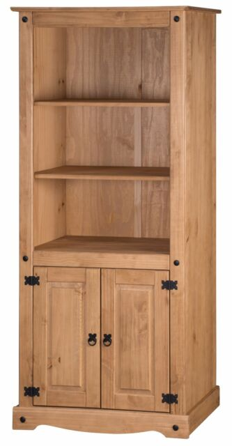 Corona 2 Door Bookcase Large Mexican Solid Pine by Mercers Furniture®