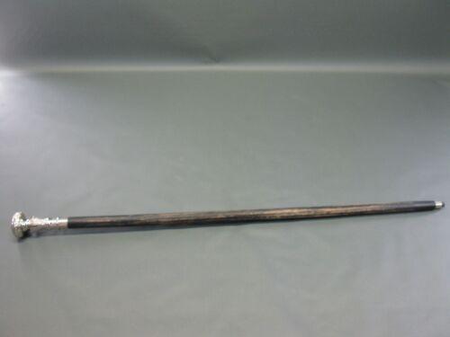 Shabby  Gehstock Wanderstock  Stock silbern schwarz 93 cm Spazierstock Heritage