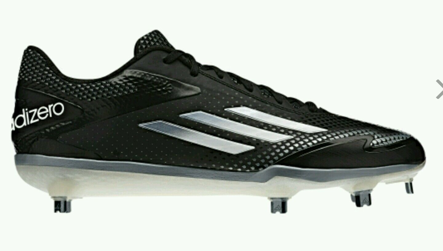 ADIDAS Adizero Afterburner 2.0 Baseball Metal Cleats, S84697 Men's Size 8