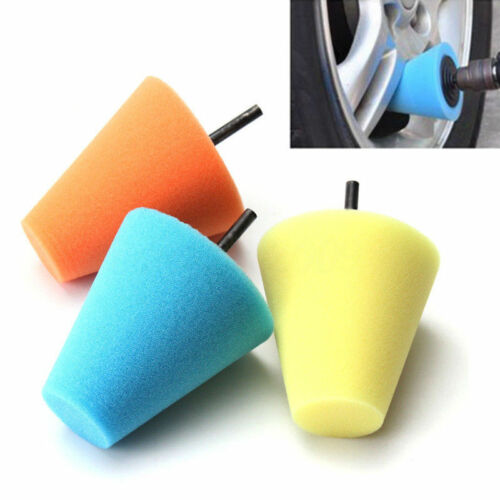 Burnishing Foam Sponge Polishing Cone Shaped Buffing Pads For Car Wheel Hub Tool