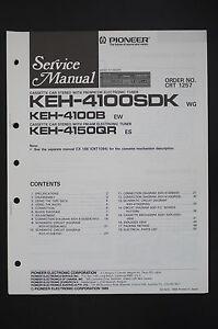 Pioneer-keh-4100sdk-4100B-4150qr-ORIGINAL-SERVICE-MANUAL-WIRING-DIAGRAM-Diagram