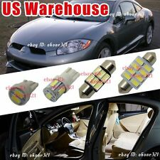 10-pc Luxury White LED Lights Interior Package Kit For 98-02 Mitsubishi Eclipse