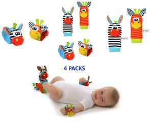 Baby Sensory Toys Pied-Finder Chaussettes Poignet Hochets Set Bracelet Cadeaux Chaussette Hiver