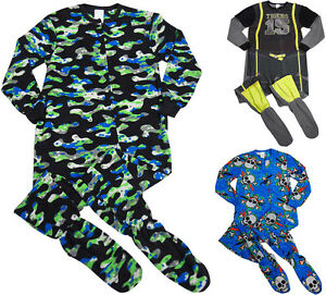 Komar Kids Boys Astronaut Black Fleece Blanket Sleeper One-Piece Pajamas