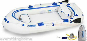 Sea-Eagle-SE9-Startup-Package-Inflatable-Boat-2-Oars-2-Seats-Pump-Make-Offer