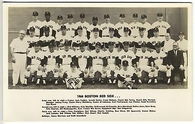 1964 Rot Sox Team Carl Yastrzemski Echt Foto Postkarte Rppc Postkarte In Den Spezifikationen VervollstäNdigen Sport Fanartikel