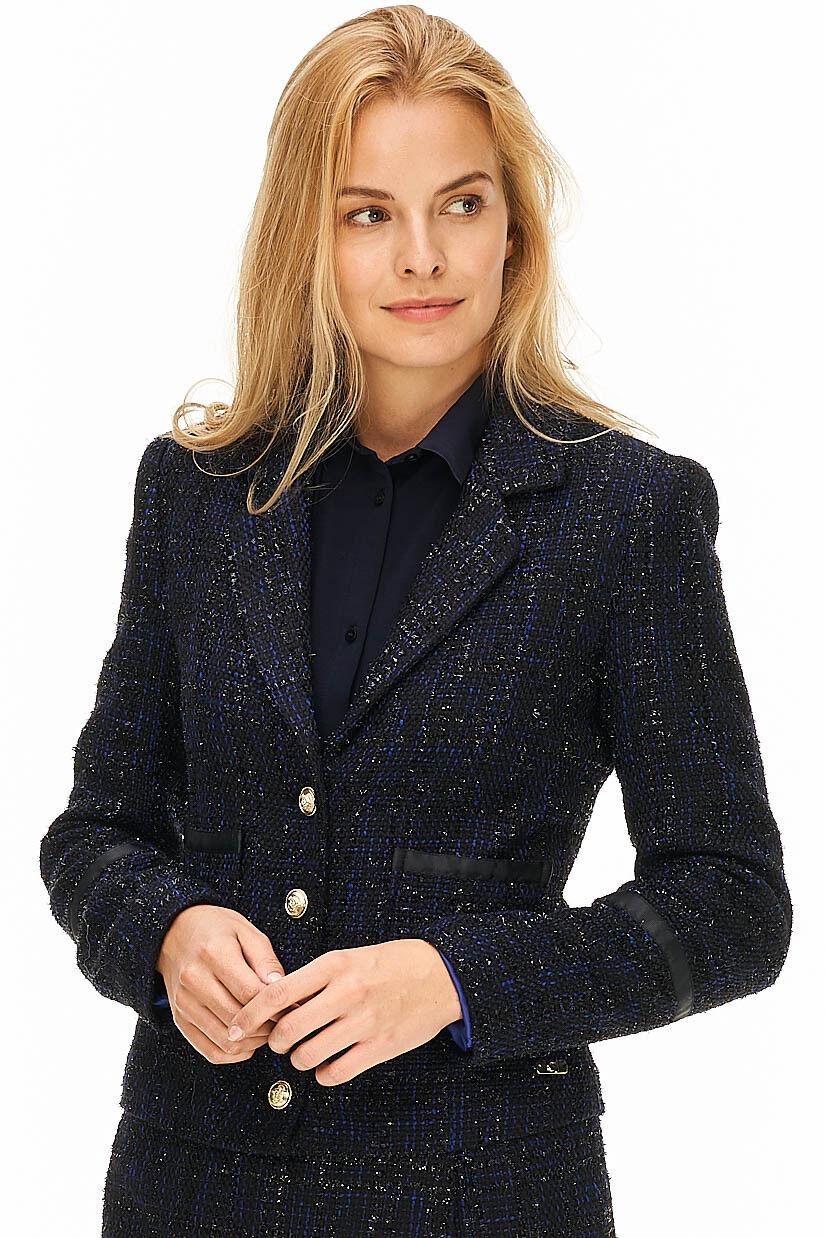 Gaudi - Bouclé-Blazer Damen blau Designer Neu