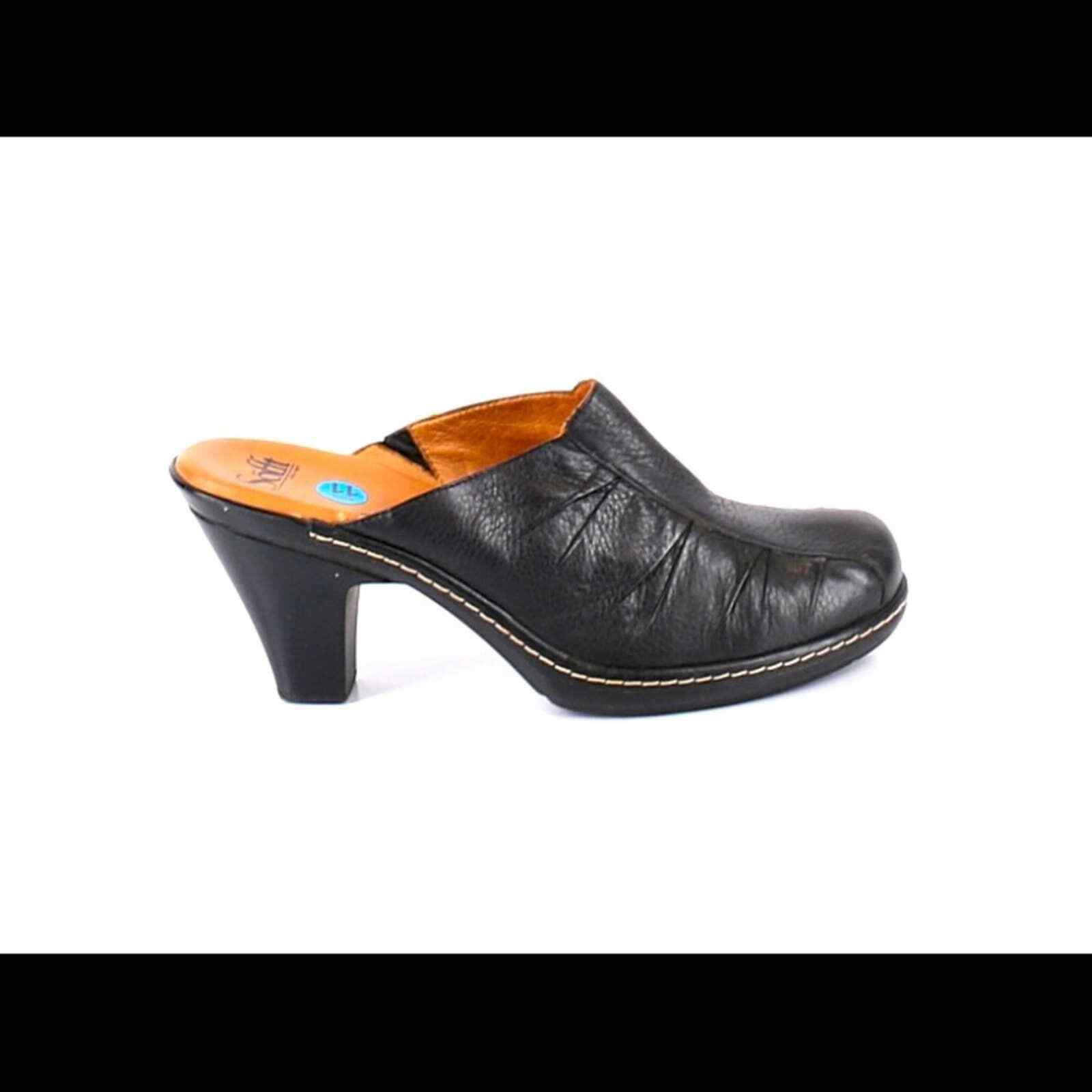 Sofft Leather Ruched Comfort Mule Clog Size 11