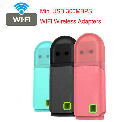 Mini WIFI 300Mbps Dongle USB Wireless Adapters For Windows 10 8 7XP Vistas