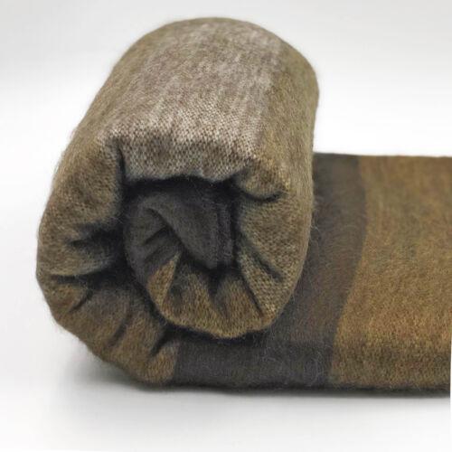 """Suave /& cálido Marrón Chocolate Cepillado Manta Cobertor De Lana De Alpaca 90/""""x65/"""""""