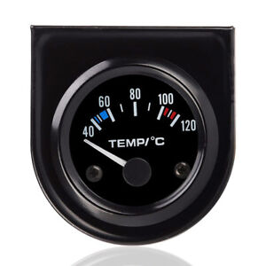52-mm-Thermometre-Jauge-Temperature-Eau-Avec-Aiguille-Voiture-40-120-LED-BR