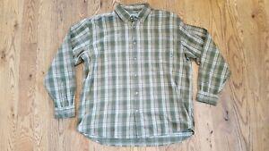 7998829023 Image is loading Mountain-Khakis-Downtown-Flannel-Shirt-green-XXL-2XL-