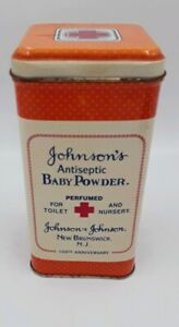 Johnson's '86 Antiseptic Baby Powder 100th Anniversary Replica Tin Can Container