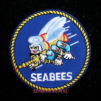 US NAVY USN SEABEES HAT PATCH CAN DO BADGE SAILOR OFFICER CHIEF USS PIN UP GIFT