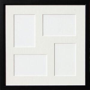New Square Multi Aperture Black Photo Frame 8 X 6 Ebay