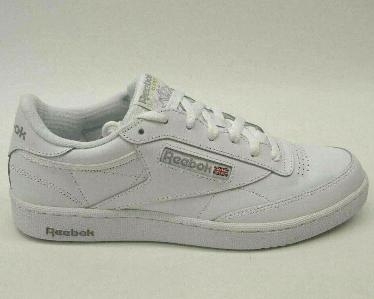 Reebok Hombre US 9.5 Ue 42,5 Cuero blancoo Retro Club 85 Clásico Zapatillas Nuevo