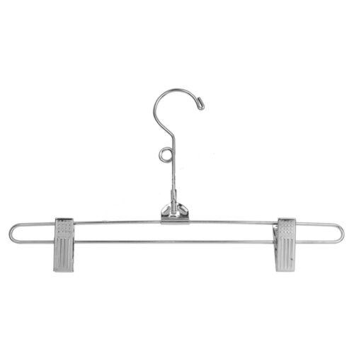 "Pant Skirt Hangers Metal 50 Chrome Hanger 12/"" Clip Retail Store Adult Size Pinch"