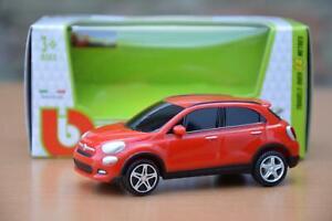 FIAT 500X (10 cm) Auto Giocattolo Pull Back & GO azione Modello in miniatura 1:43 500 X