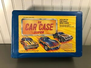 Vintage-Tara-Toy-Corp-Diecast-Car-Case-Super-Vehicle-Carrying-Case-for-24-Cars