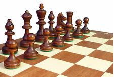 Schach; Turnier - Schachspiel Staunton Nr. 3, Schachbrett 35x35 cm KH 65 mm Holz