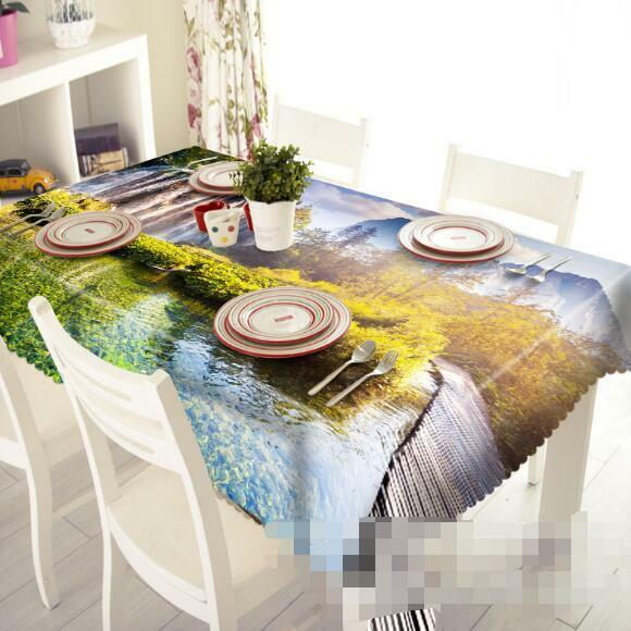 3D Lake Falls 155 Tablecloth Table Cover Cloth Birthday Party Event AJ WALLPAPER