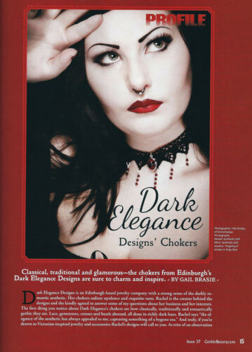 Ruby Red ROSE velvet gothic choker necklace rosebud steampunk goth victorian