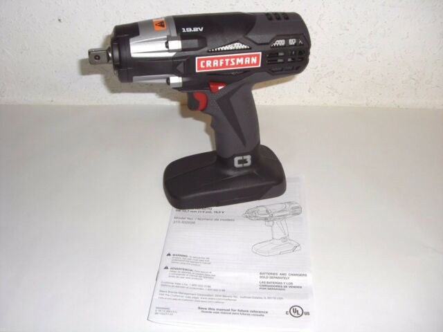 New Craftsman C3 Heavy Duty 19 2v Cordless 1 2 Reversible Impact Wrench