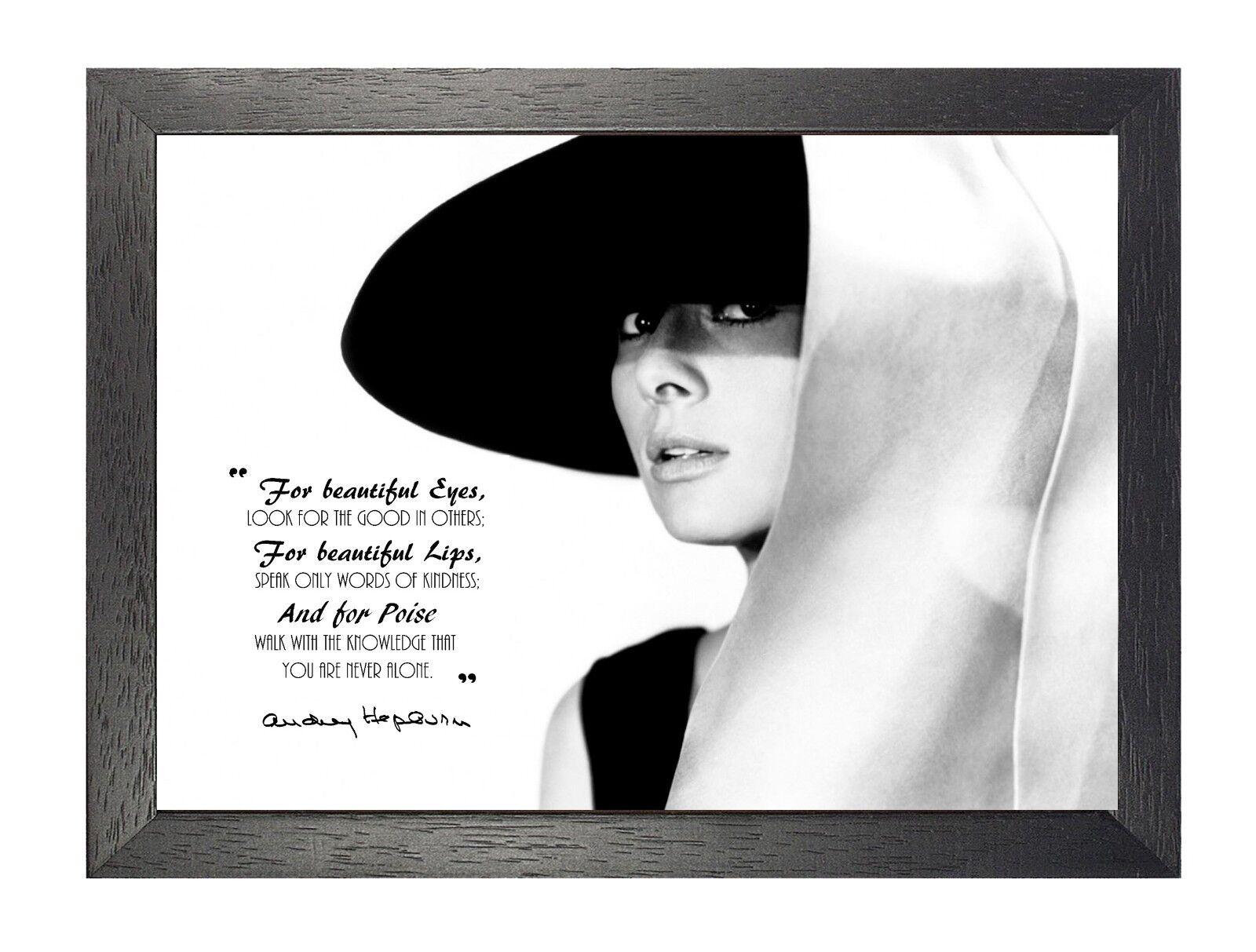 Audrey Hepburn 15 British Actress Model Motivation And Inspiration Poster Photo