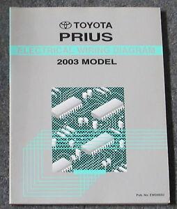 2003 Toyota Prius Electrical Wiring Diagram Service Manual ...