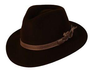 Scippis-Hut-Westernhut-Cowboyhut-NORTON-Wollhut-Brown-Braun-NEU